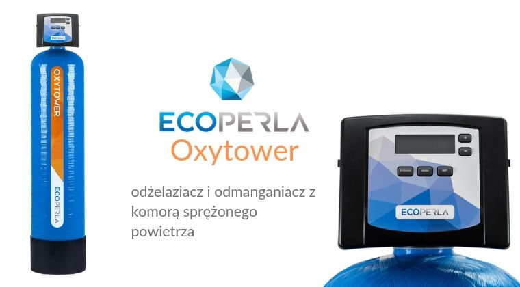 Ecoperla Oxytower - usuwanie żelaza i manganu z komorą sprężonego powietrza